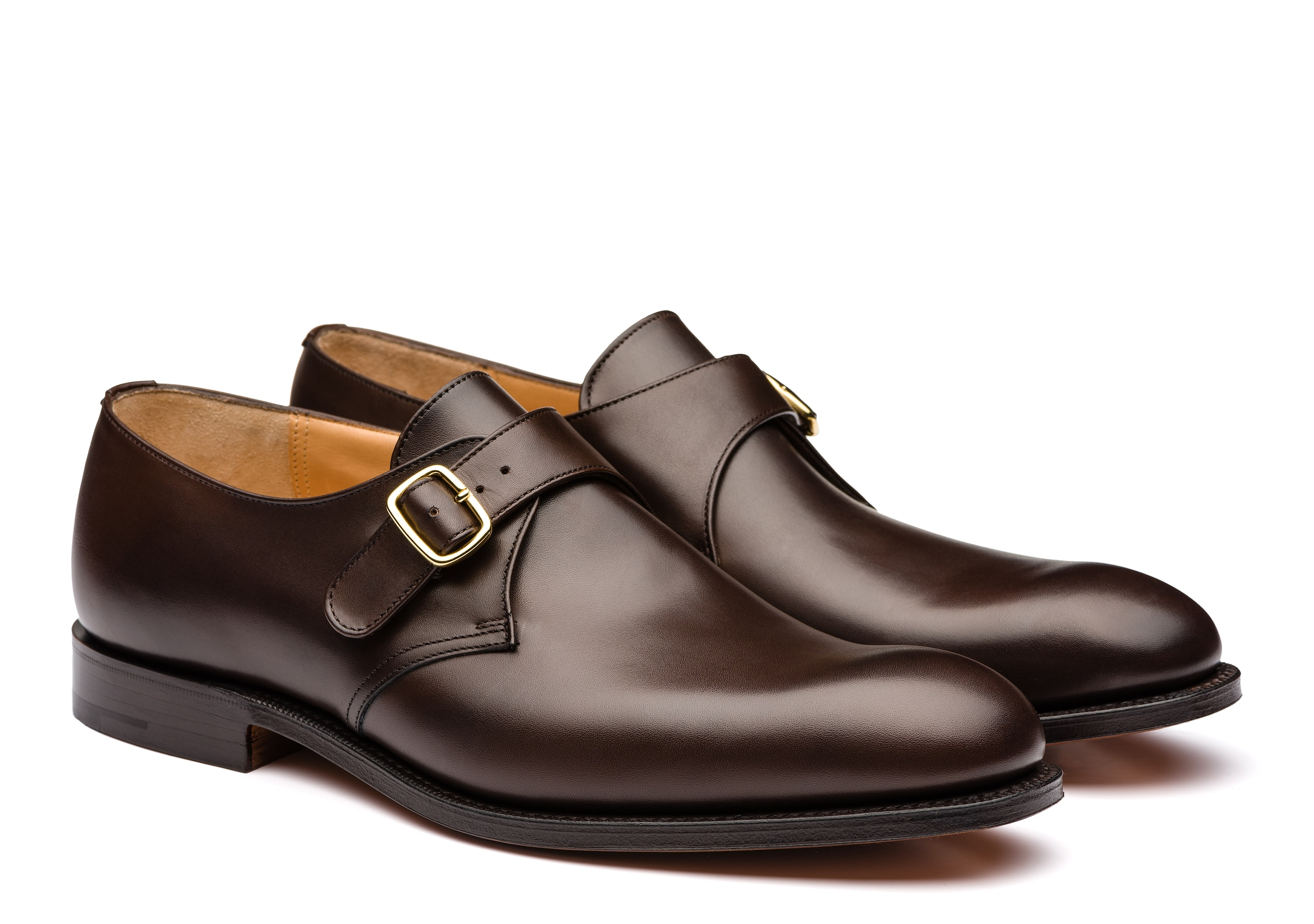 Becket 173 Church's Nevada Leather Monk Strap Brown