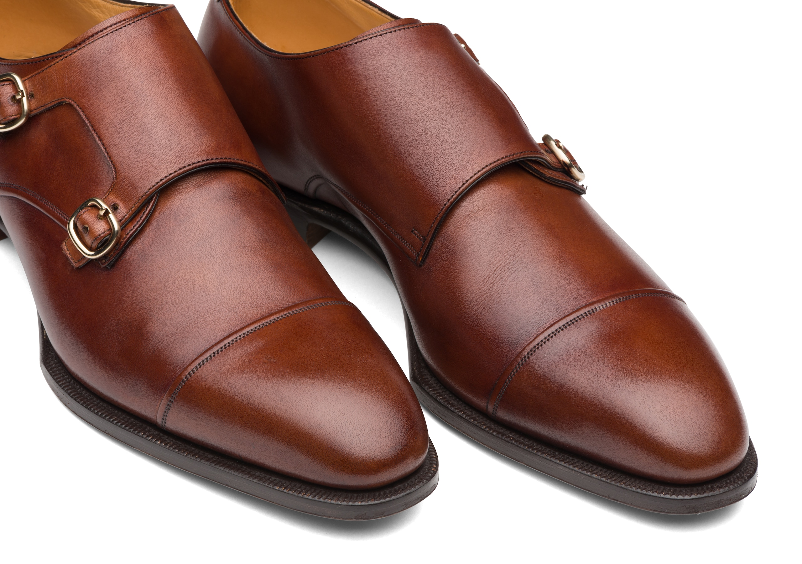 Coleridge Church's Doha Leather Monk Strap Brown Brown