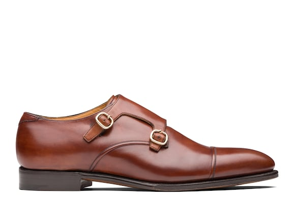 Church's true Doha Leather Monk Strap Brown