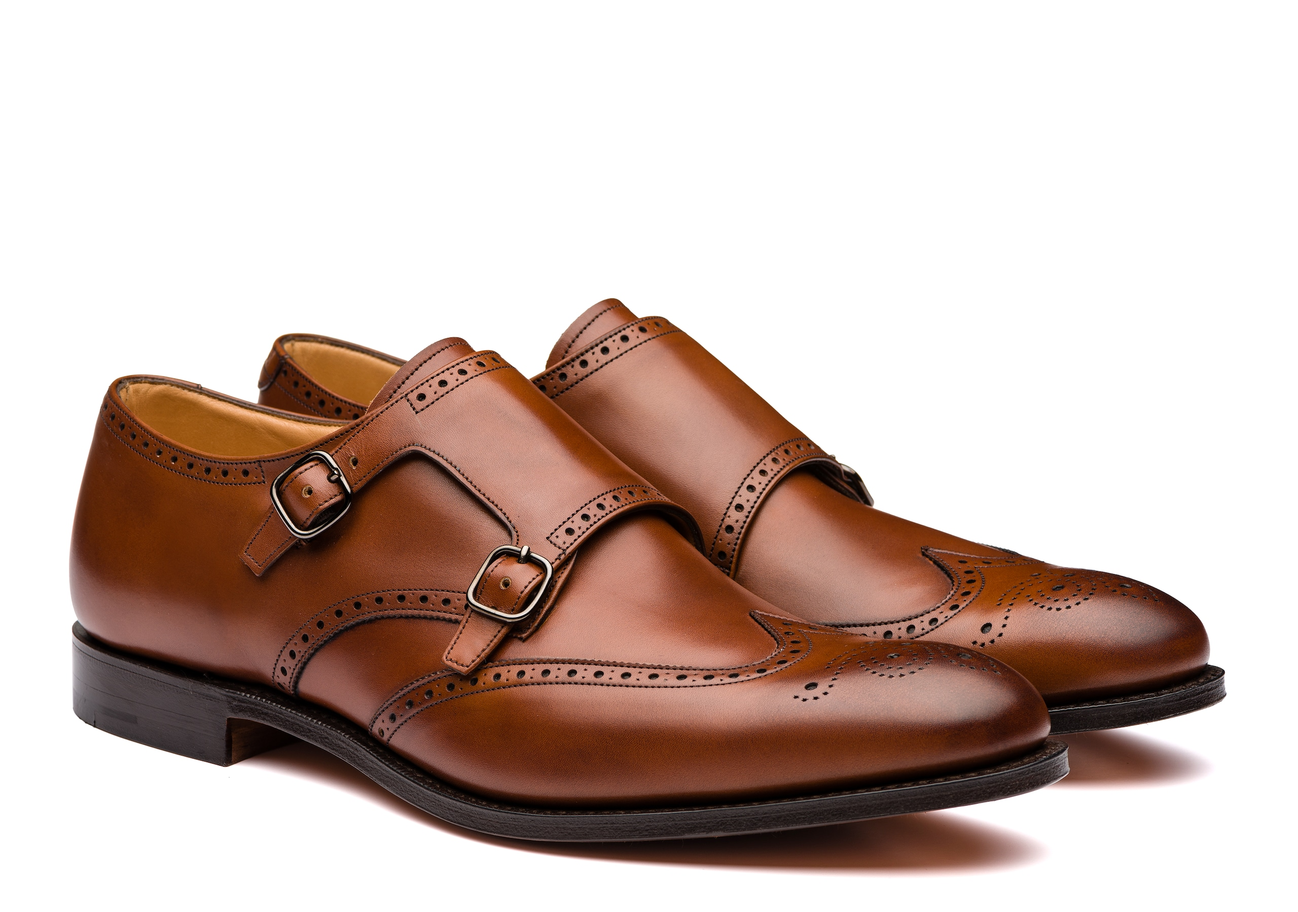Church's Calf Leather Monk Strap Brogue Brown