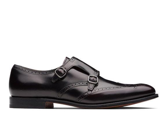 Church's Chicago Polished Fumè Monk Strap Brogue Dark burgundy