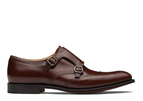 Church's Chicago Polished Fumè Monk Strap Brogue Tabac