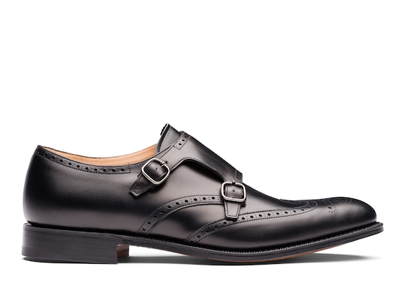 Church's true Calf Leather Monk Strap Brogue Black