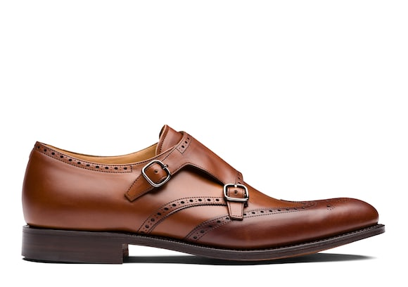 Church's true Nevada Leather Monk Strap Brogue Walnut