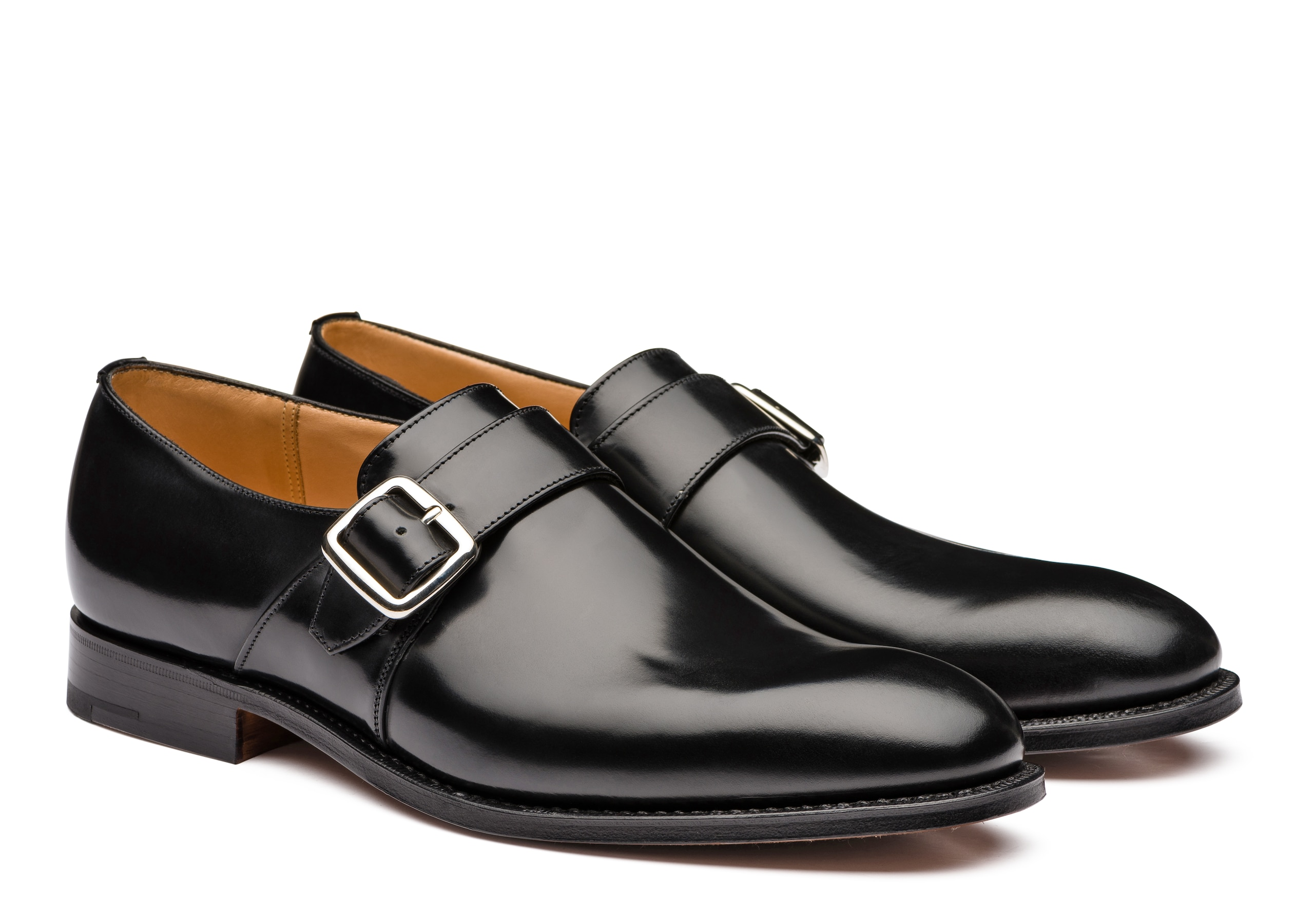 Westbury Church's Polished Binder Monk Strap Black
