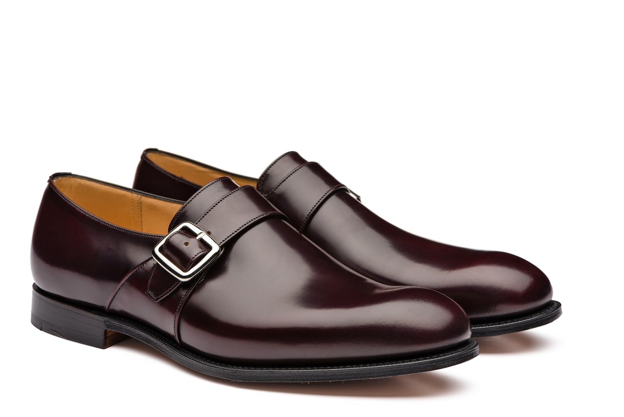 Westbury Church's Polished Binder Monk Strap Burgundy
