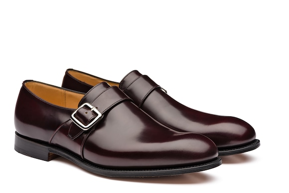 Church's Westbury Calf Leather Monk Strap Burgundy