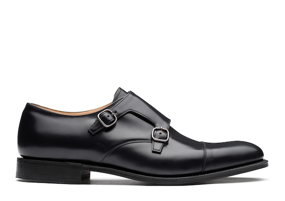Church's Detroit Monk Strap in Pelle di Vitello Spazzolato Nero