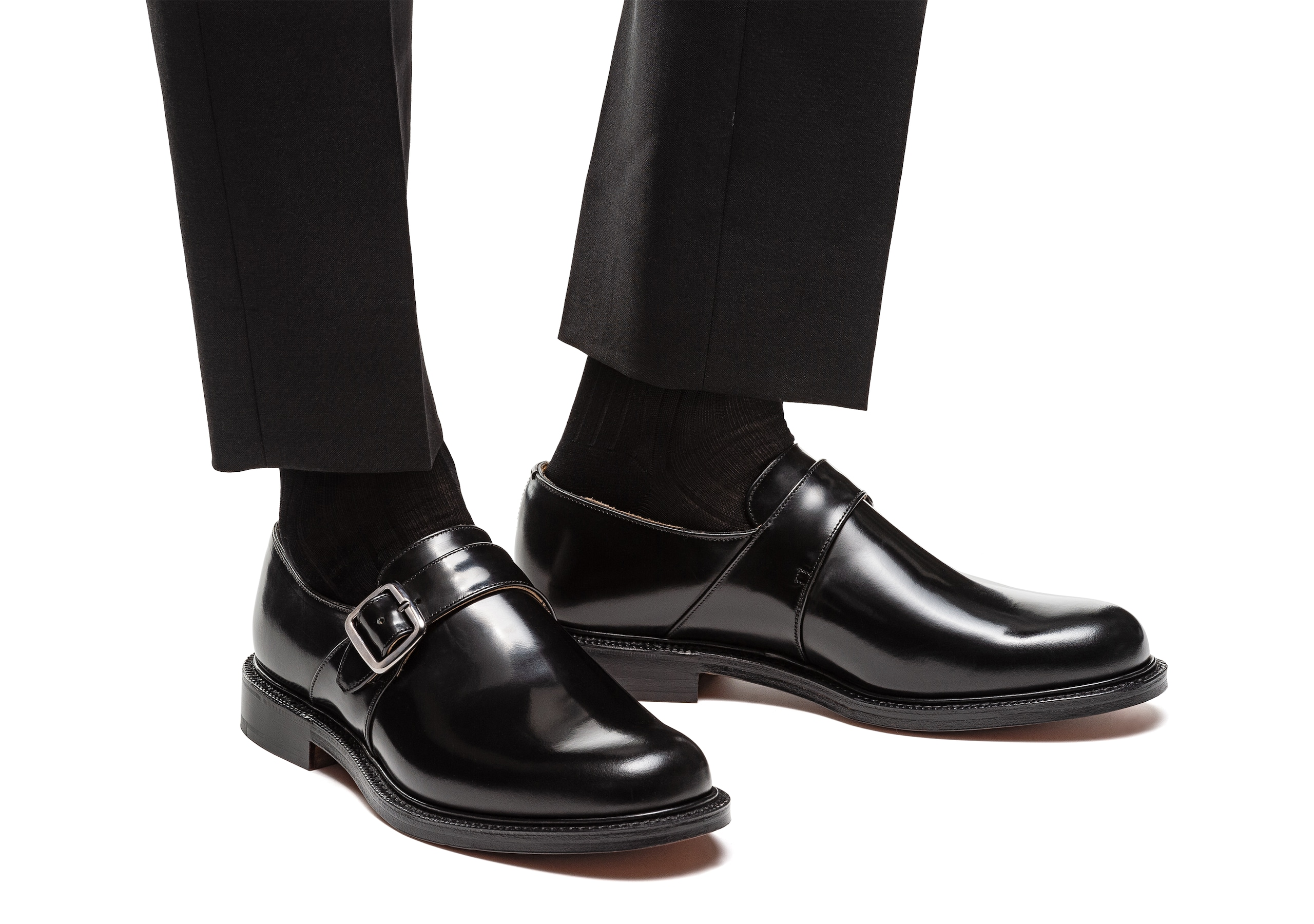 Wrexham Church's Polished Binder Monk Strap Black