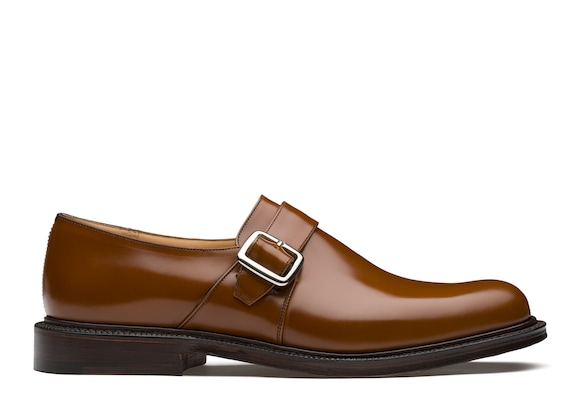 Church's true Polished Binder Monk Strap Sandalwood