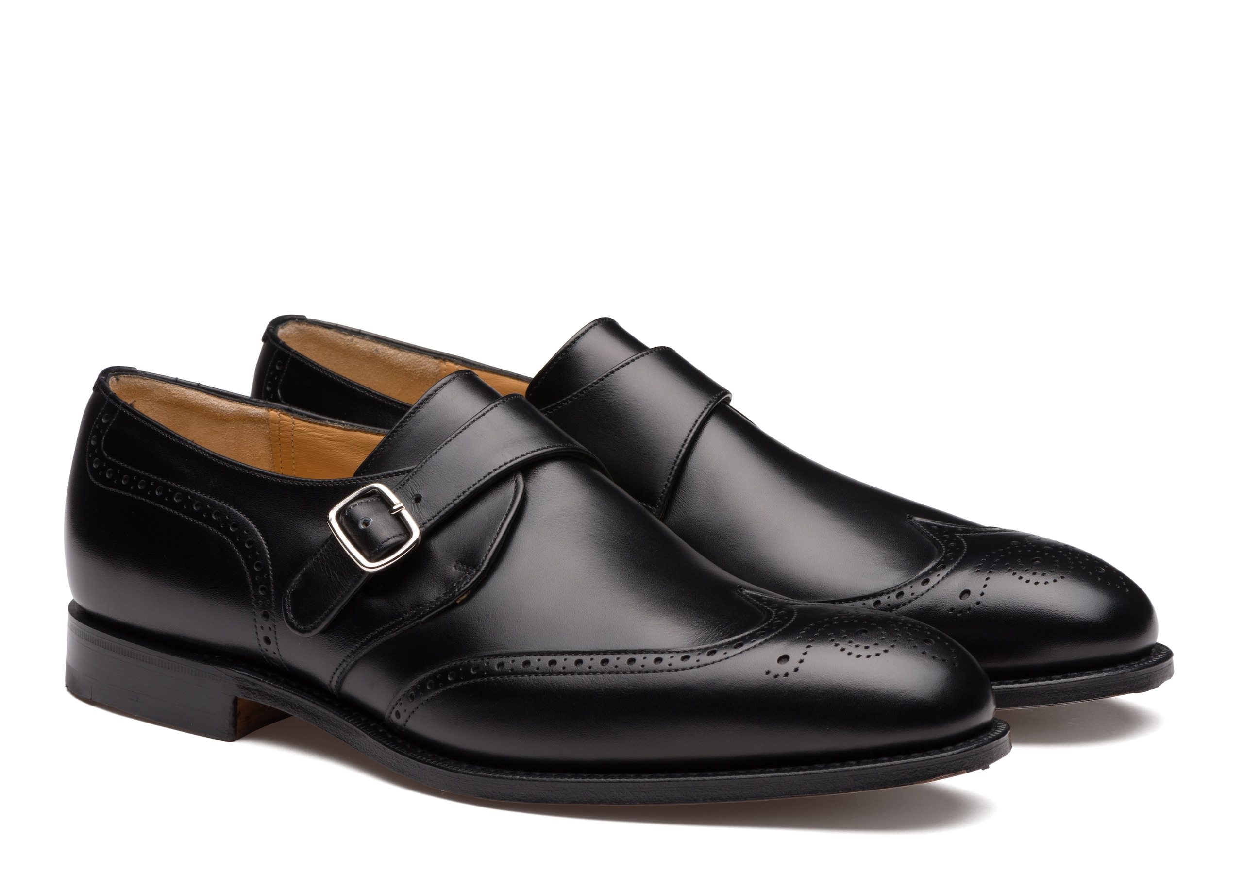 Piccadilly 173 Church's Calf Leather Monk Strap Brogue Black