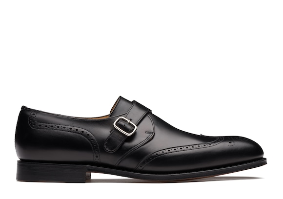 Church's  Calf Leather Monk Strap Brogue Black
