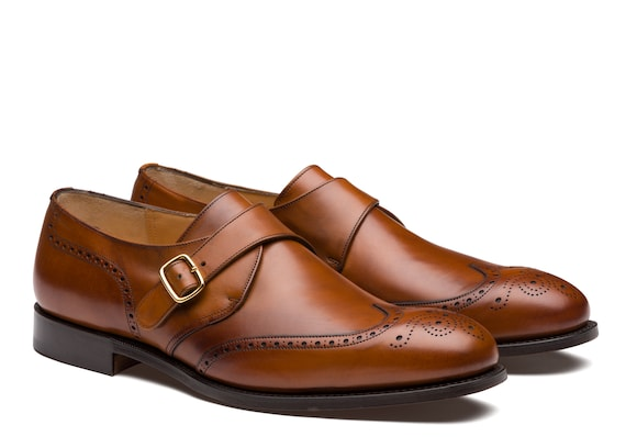 Church's Piccadilly 173 Nevada Leather Monk Strap Brogue Walnut