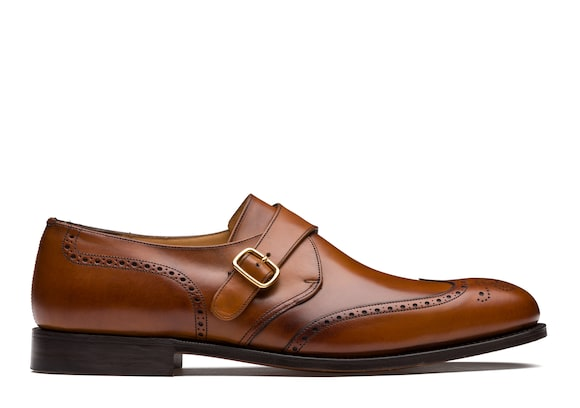 Church's  Nevada Leather Monk Strap Brogue Walnut