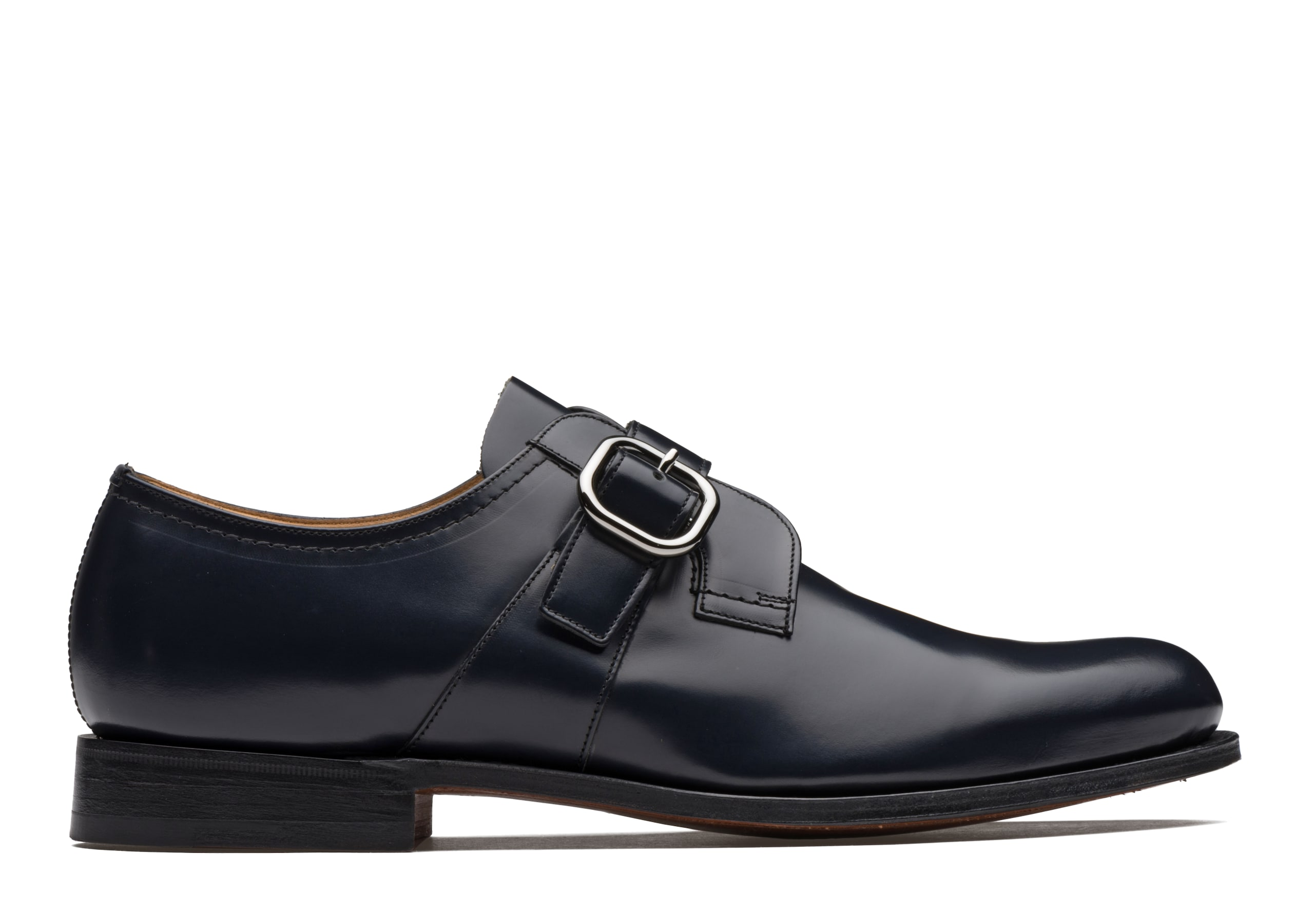 Baycliff Church's Polished Binder Monk Strap Black Blue