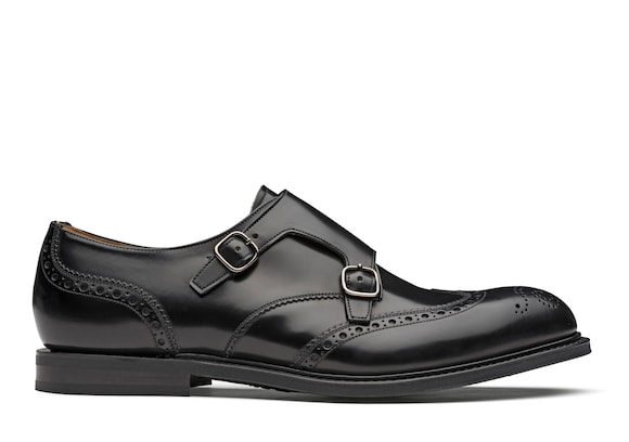 Church's true Polished Binder Monk Strap Brogue Black