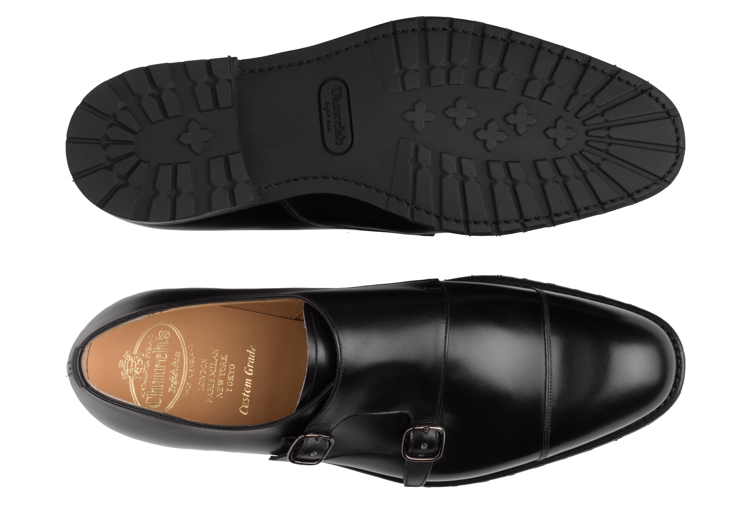 Cowes t Church's Calf Leather Monk Strap Black
