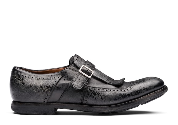 Church's Shanghai Country Calf and Glacè Buckle Loafer Black