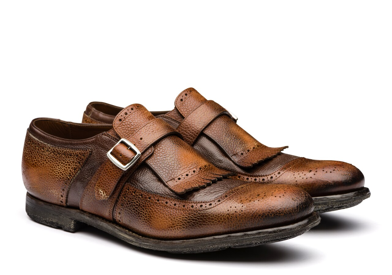 Shanghai Church's Country Calf and Glacè Buckle Loafer Brown