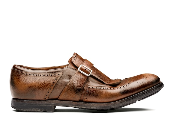 Church's Shanghai Country Calf and Glacè Buckle Loafer Burnt