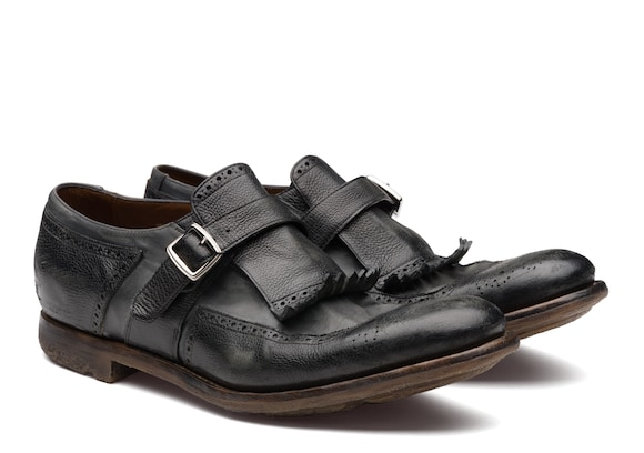 Church's  Glacè Calf and Nylon Buckle Loafer Black/anthracite