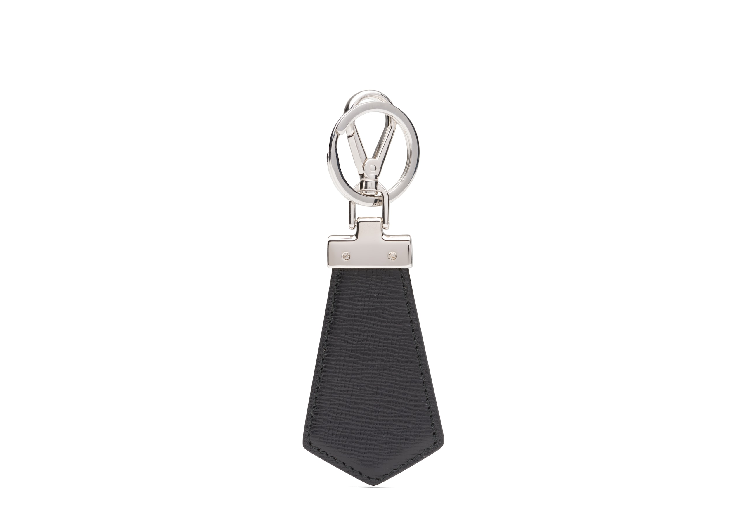 Tab keyring Church's St James Leather Keyring Black