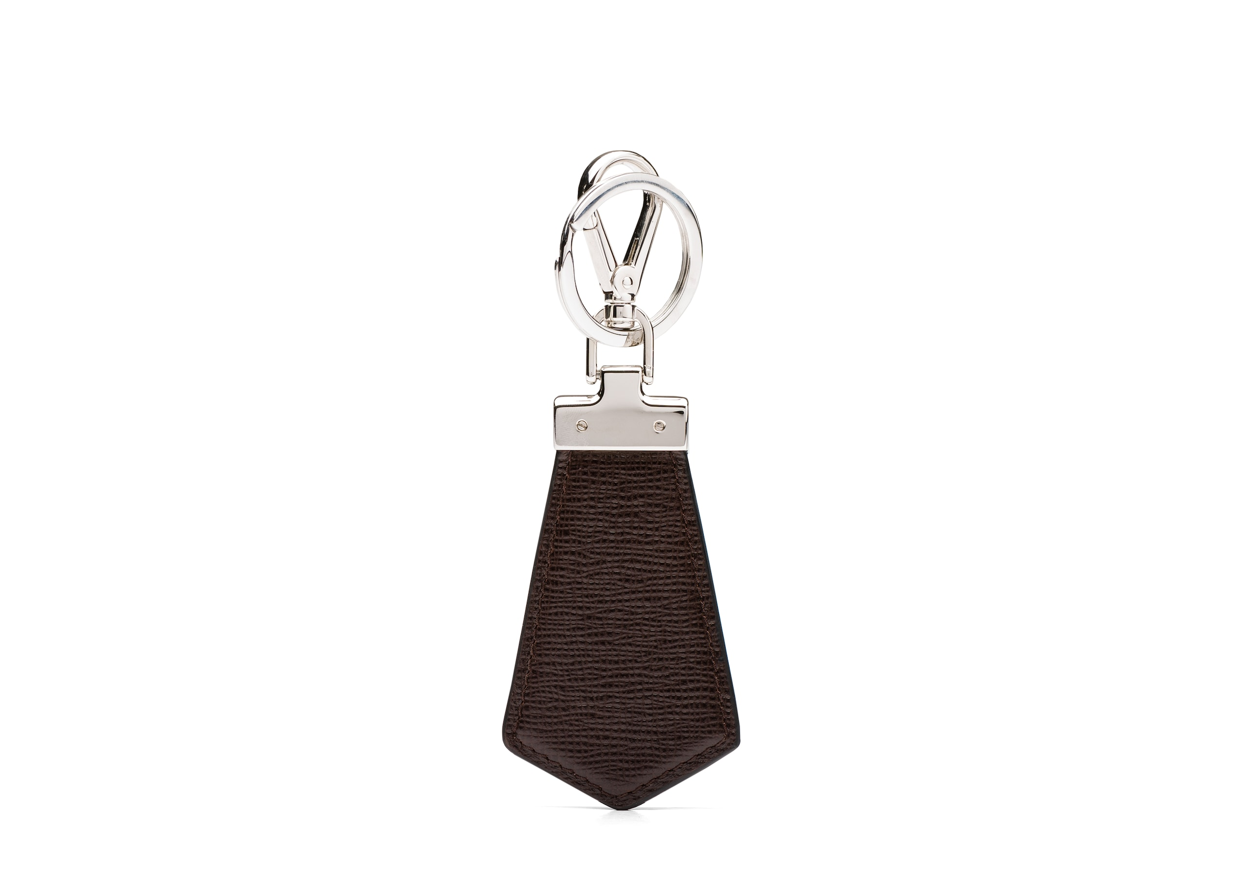 Tab keyring Church's St James Leather Keyring Brown