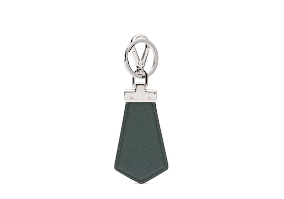 Church's true St James Leather Keyring Emerald