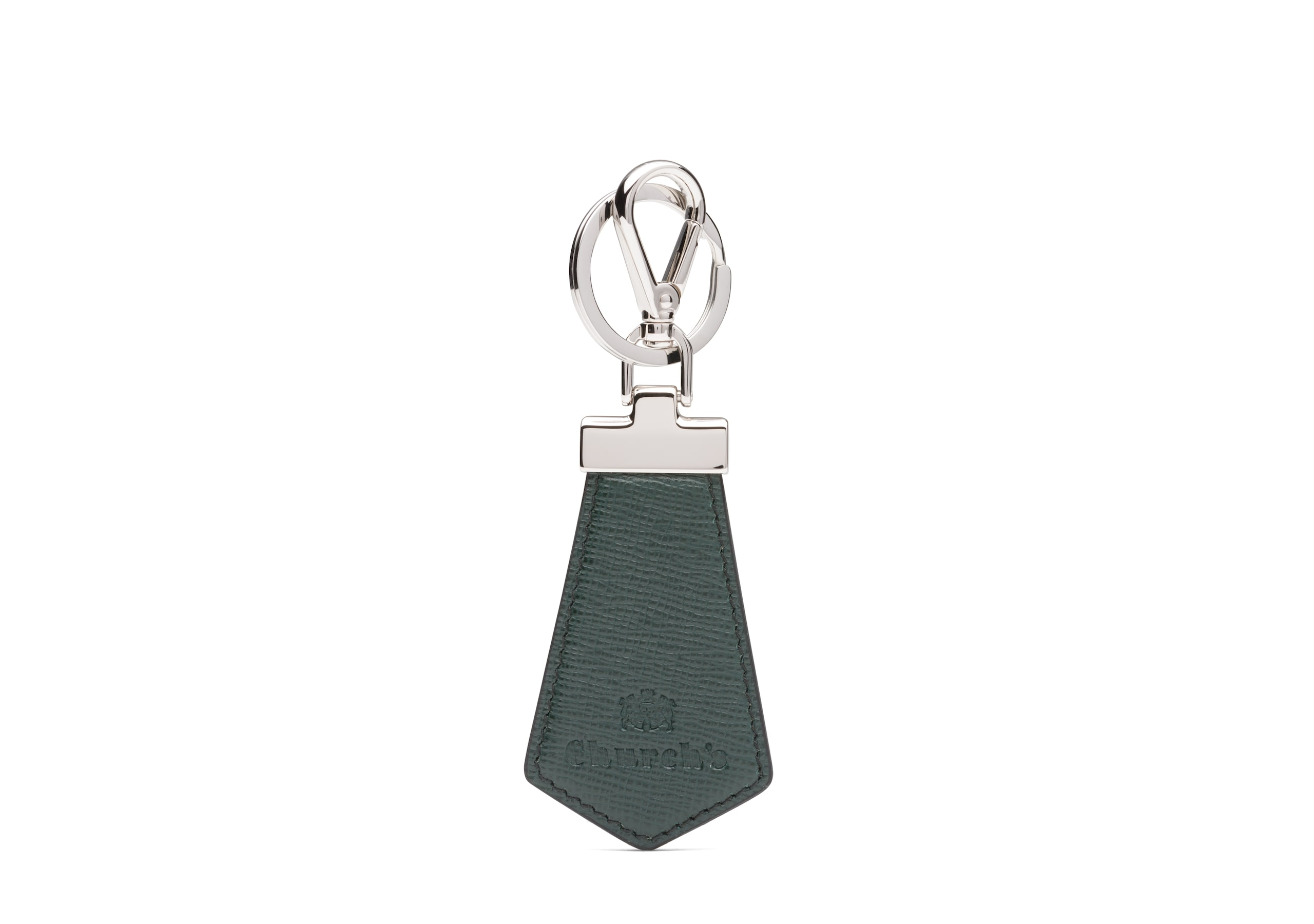 Tab keyring Church's St James Leather Keyring Green