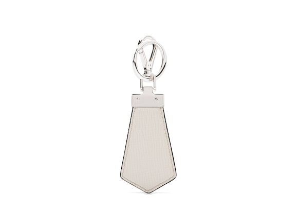 Church's Tab keyring St James Leather Keyring Chalk white