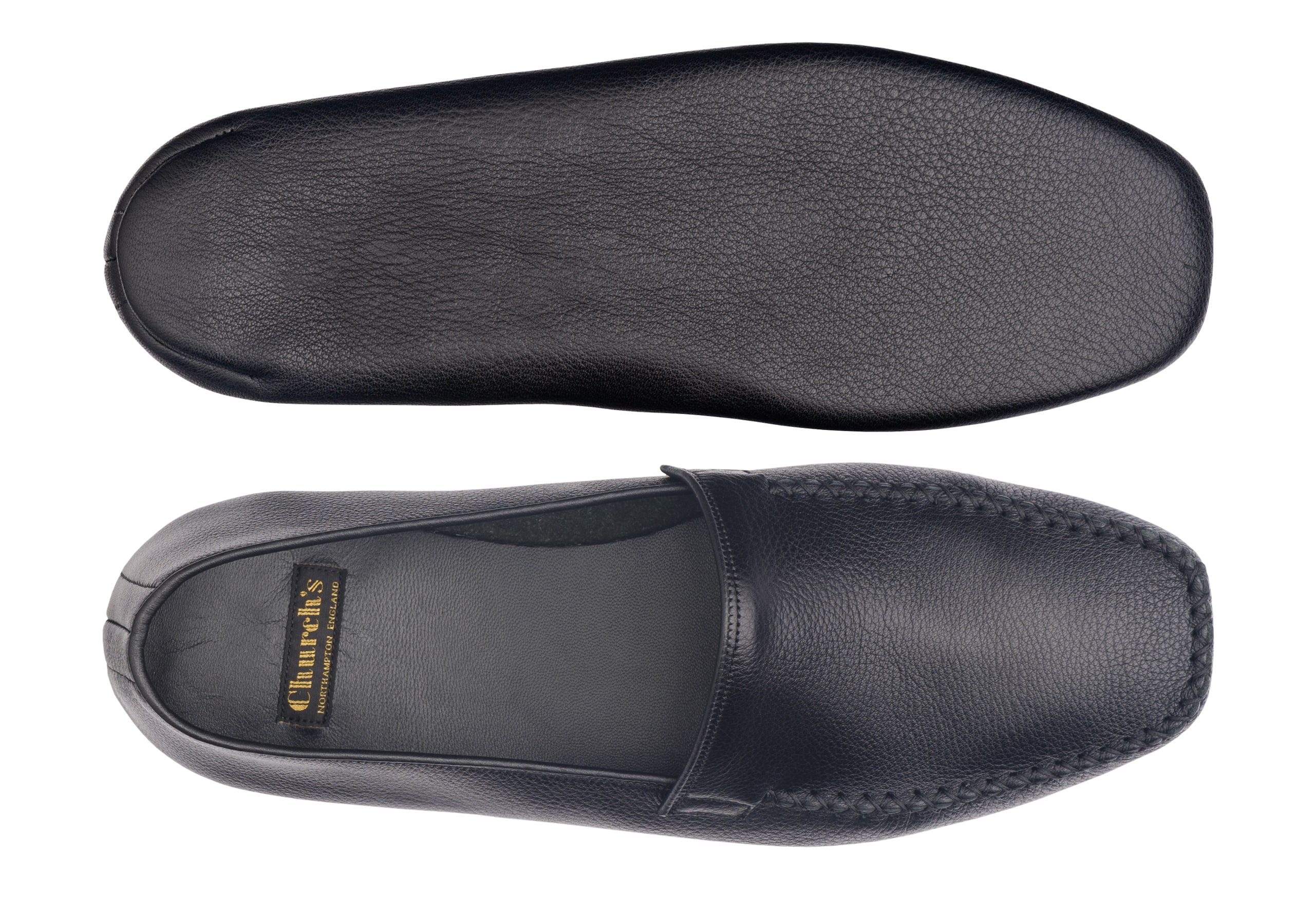 Limos 4 Church's Daino Leather Grecian Slipper Black