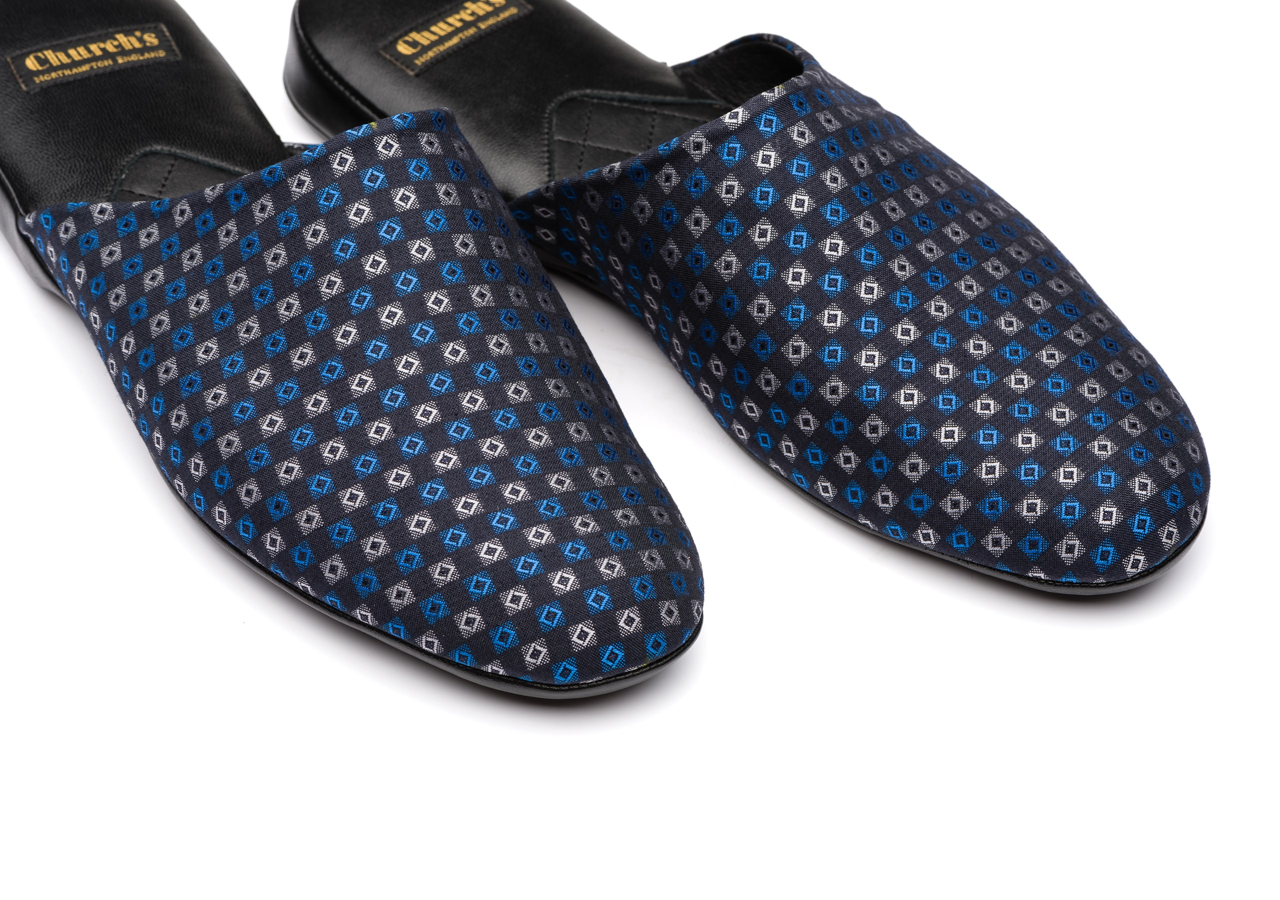 Arran 03 Church's Silk Jacquard Slipper Blue