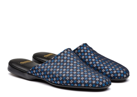 Church's  Silk Jacquard Slipper Blue