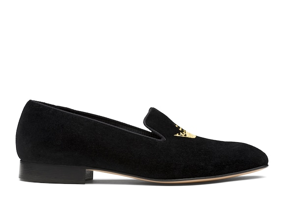 Church's Sovereign crown Velvet Crown Loafer Black