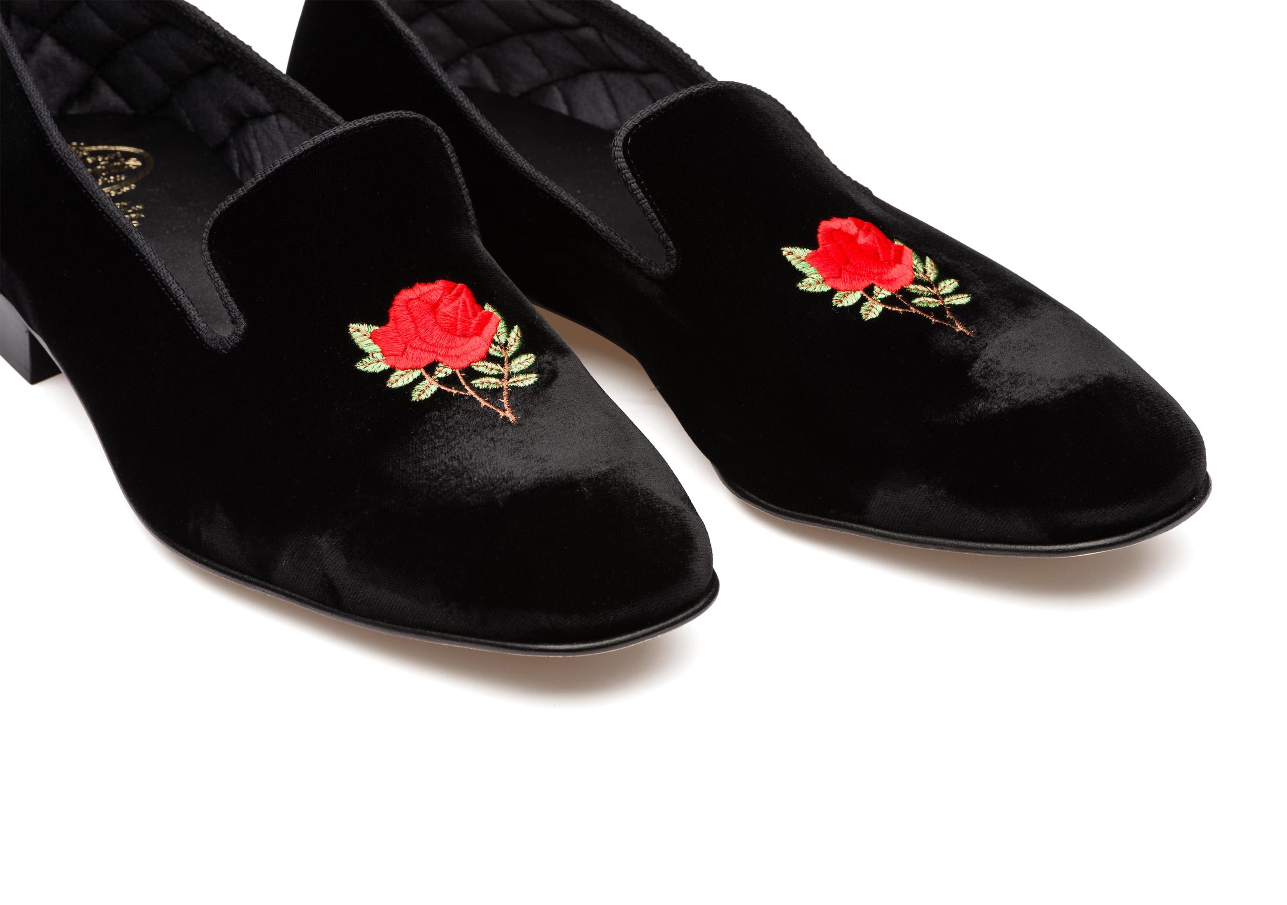 Sovereign rose Church's Velvet Rose Loafer Black