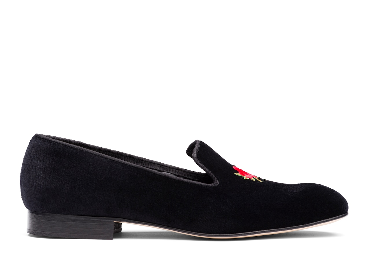 Sovereign rose Church's Velvet Rose Loafer Black