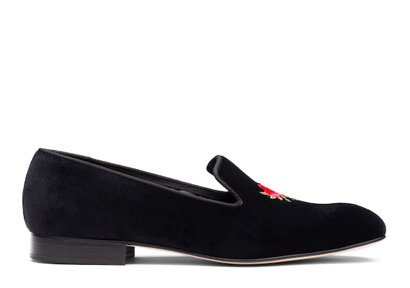 Church's Sovereign rose Mocassin en Velours, Couronne Noir