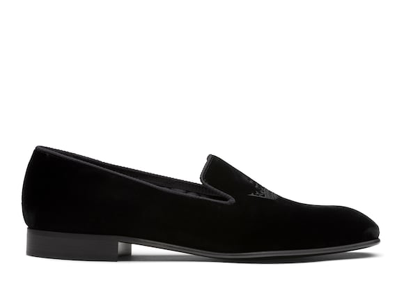 Church's Sovereign 2 Velvet Crown Loafer Black