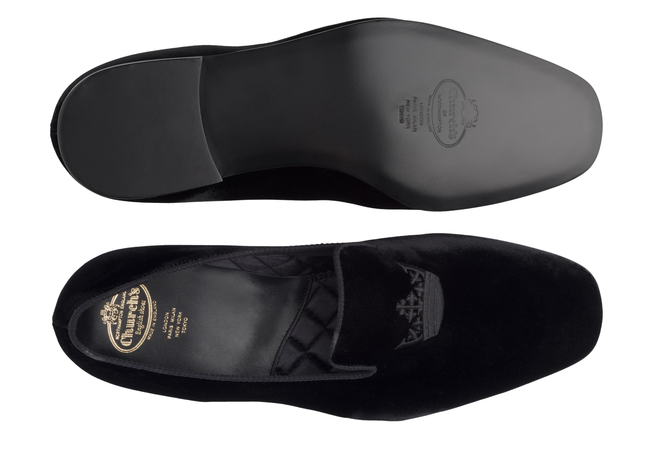 Sovereign 2 Church's Velvet Crown Loafer Black