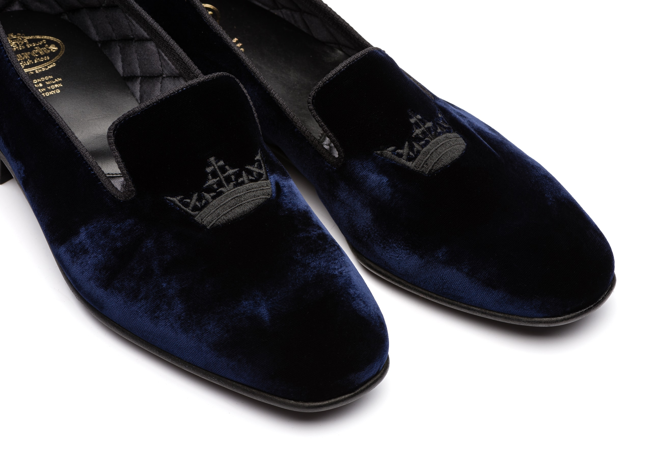 Sovereign 2 Church's Mocassino in Velluto Crown Blu