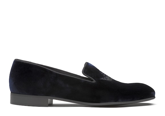 Church's Sovereign 2 Velvet Crown Loafer Blue