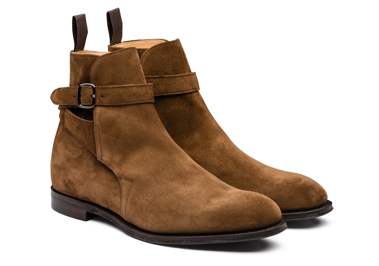Bletsoe Church's Suede Strap Boot Brown