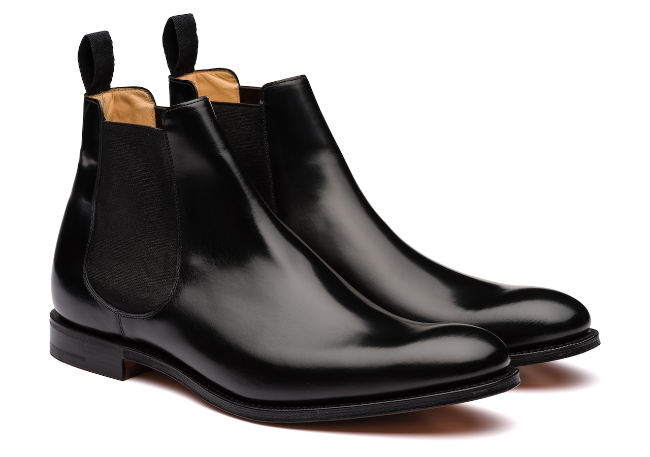 Houston Church's Polished Binder Chelsea Boot Black