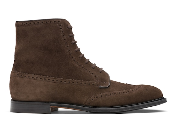 Church's true Suede Lace-Up Boot Brogue Brown