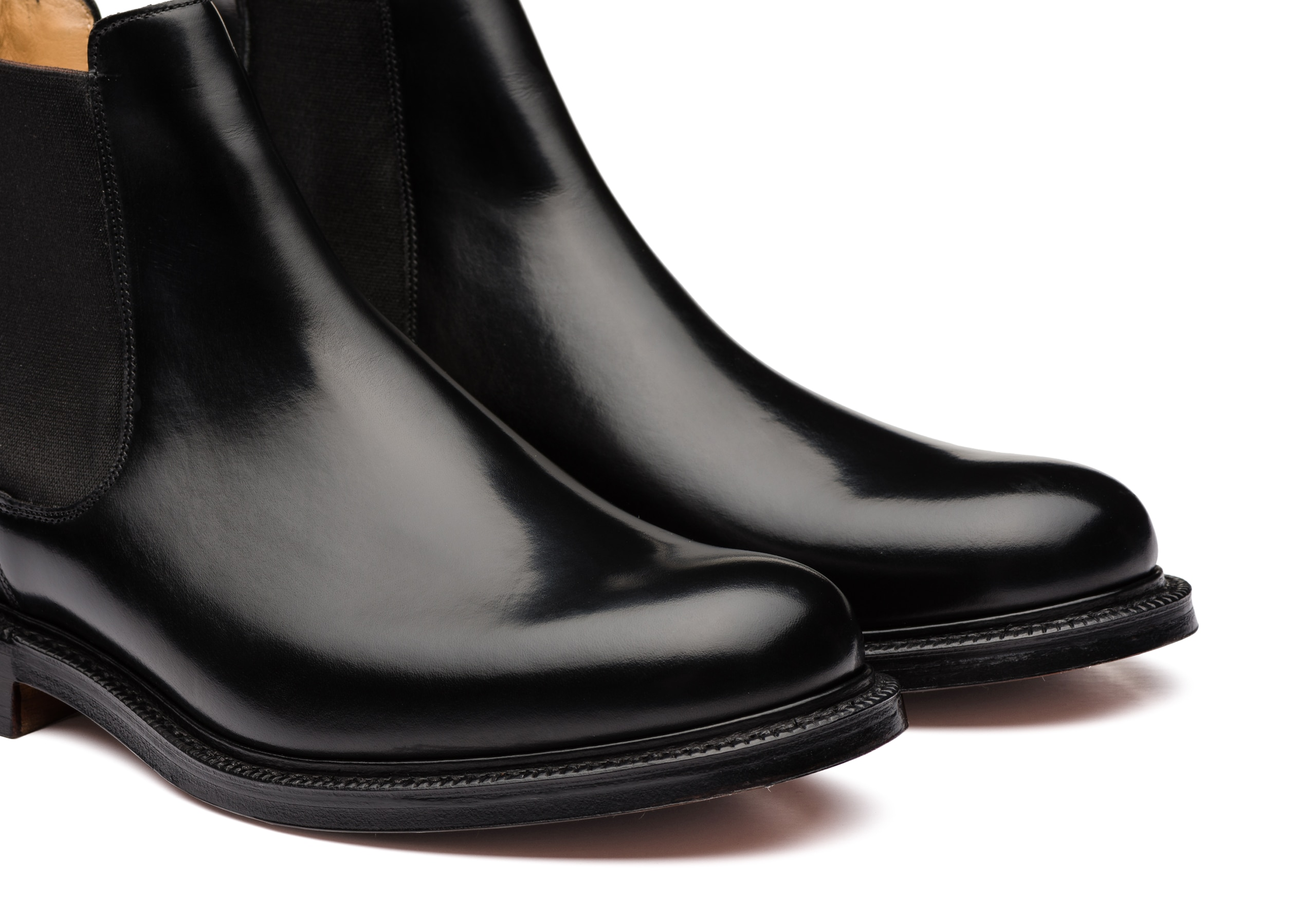 Wells Church's Polished Binder Chelsea Boot Black