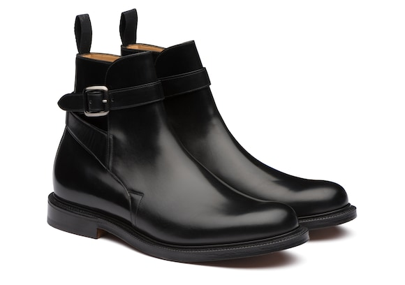 Church's true Polished Binder Leather Strap Boot Black