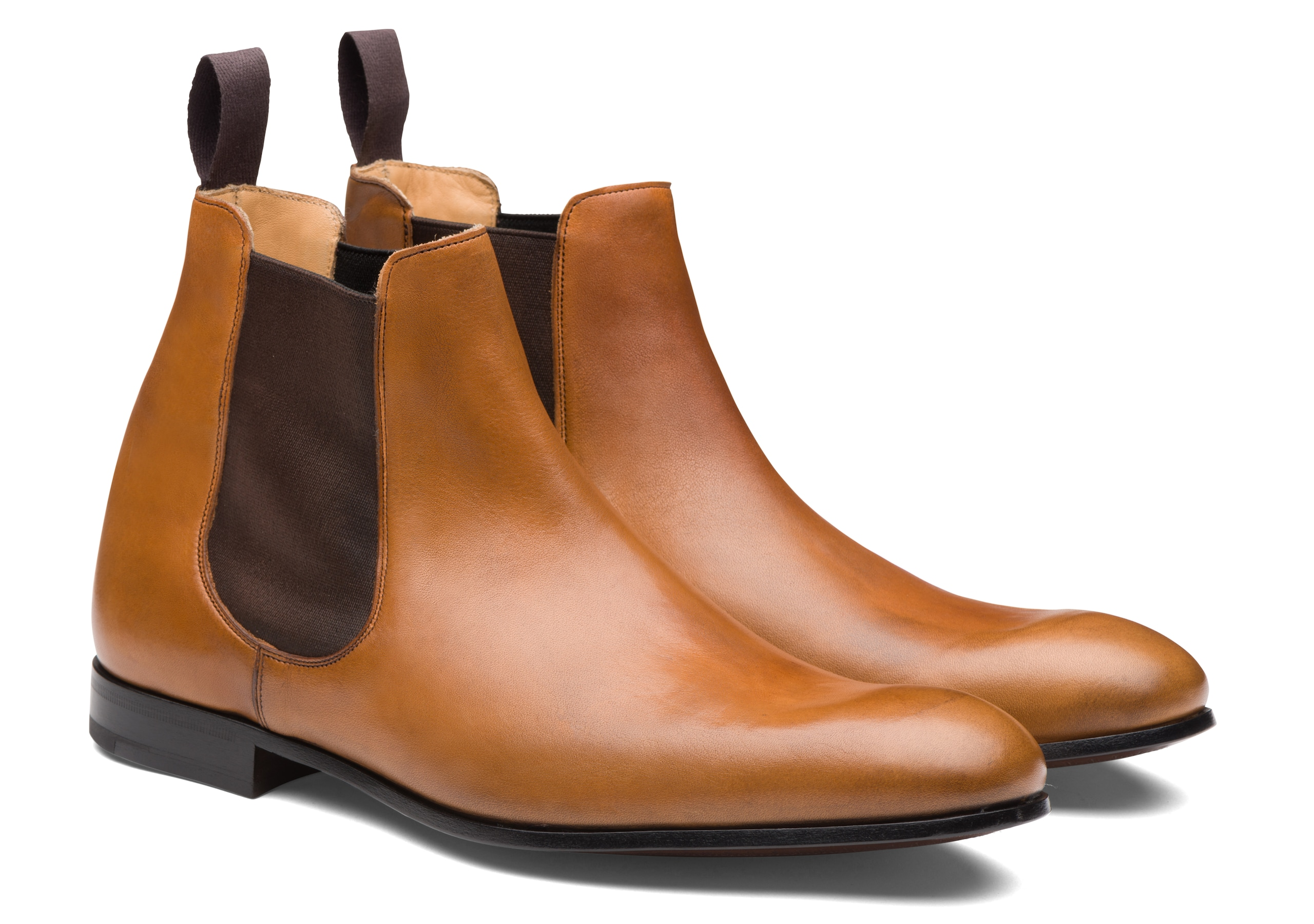 Dixton Church's Vintage Calf Leather Chelsea Boot Brown