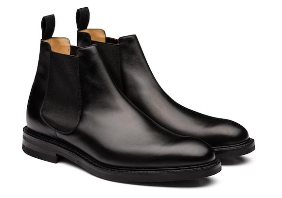 Church's  Botte Chelsea en Cuir de Veau Noir