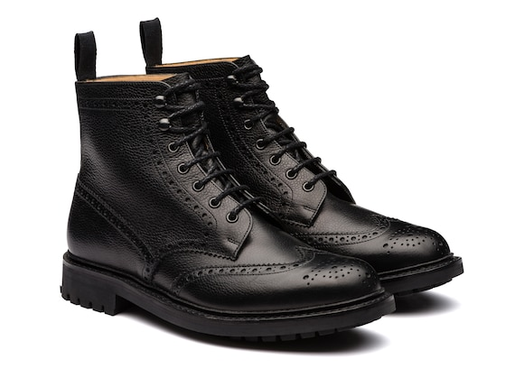 Church's true Highland Grain Lace-Up Boot Brogue Black