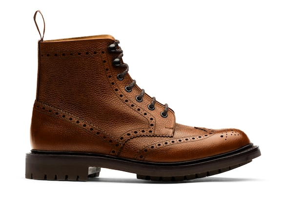 Church's true Highland Grain Lace-Up Boot Brogue Walnut